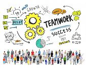 picture of collaboration  - Teamwork Team Together Collaboration People Diversity Community Concept - JPG