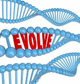 image of evolve  - Enhance word in 3d letters in a DNA strand to illustrate growth - JPG
