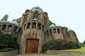 stock photo of church  - Catholic Minor Basilica and parish church in Brussels - JPG