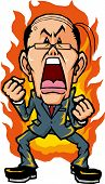 stock photo of anger  - Businessman that rage to you are full of anger - JPG