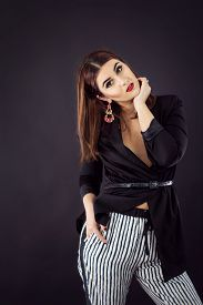 image of v-day  - Woman in smart casual fashion look - JPG