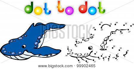 Funny Cartoon Whale Killer Dot To Dot