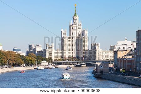 Panorama Of Moskva River And Tower In Moscow