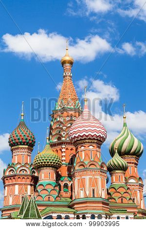 Pokrovsky Cathedral On Red Square In Moscow