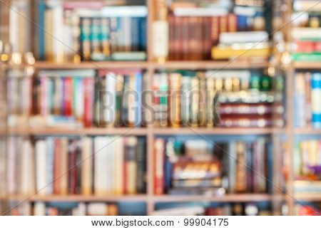 Defocused Background From Books In Library