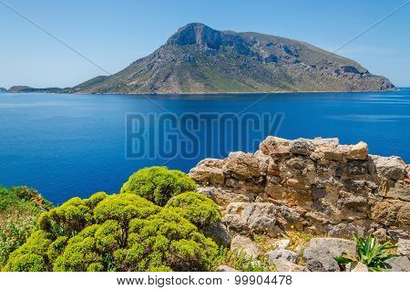 Remote vulcanic island, Greece
