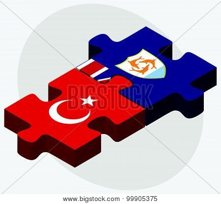 Turkey And Anguilla Flags