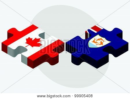 Canada And Anguilla Flags