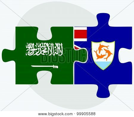 Saudi Arabia And Anguilla Flags