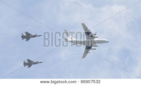 Air Refueling At The Victory Parade