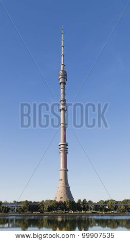Ostankino Tv Tower In The Early Morning