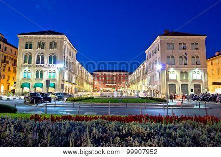 Prokurative Square In Split Evening View