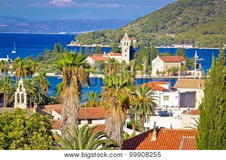 Mediterranean Destiation Of Vis Island Nature And Architecture