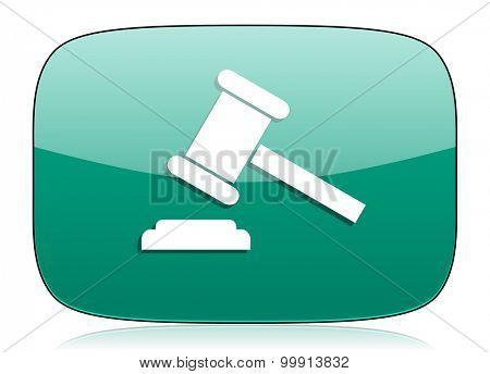 auction green icon court sign verdict symbol