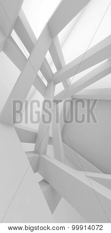 Abstract Vertical Architecture Background 3D Art