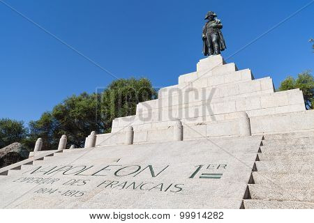 Memorial With Statue Of Napoleon Bonaparte