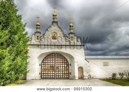 Tobolsk Kremlin Gates Panorama Menacing Sky