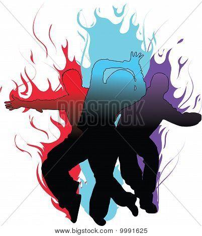 Flaming Tänzer