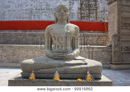 Buddha in Polonnaruwa temple - medieval capital of Ceylon,