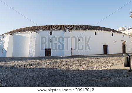 Exterior View Of The Bullring In Ronda, Malaga, Spain