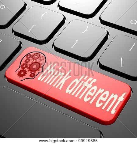 Keyboard With Think Different Text