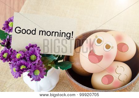 Blank Card And Eggs