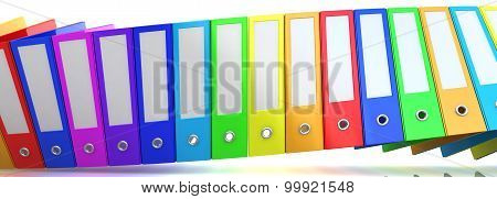 Rainbow office folders