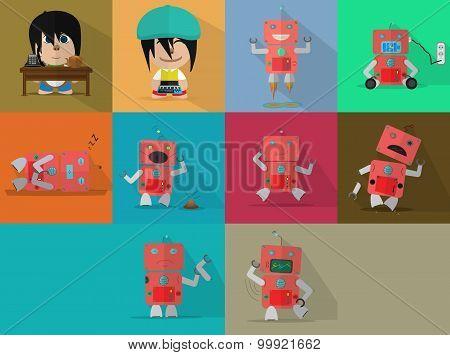 Boy & Robot Characters