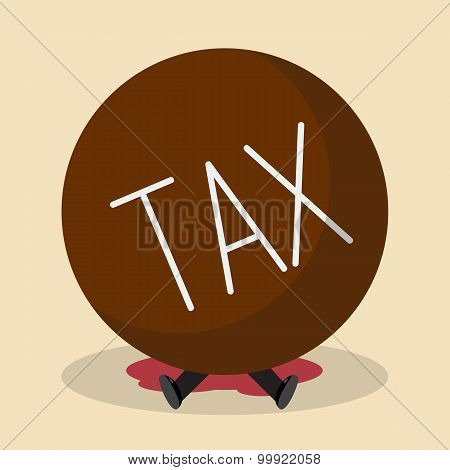Businessman Under Heavy Tax