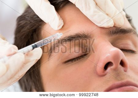 Man Having Botox Treatment