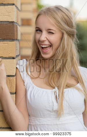 Girl Blinking