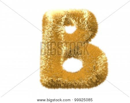 Letter B from fur fox alphabet