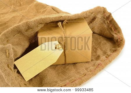 Mail Sack With Wrapped Package