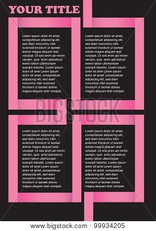 Pink Angular Divider On Black Background Page Layout Design