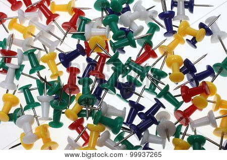 Colorful Pushpins Or Pushneedles