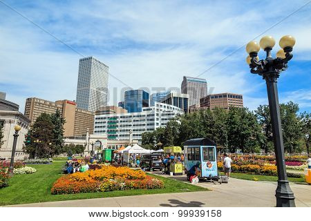 Civic Center Park In Downtown Denver