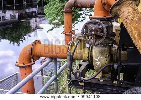 Metal Valve Of Water Pipe For Pump System.