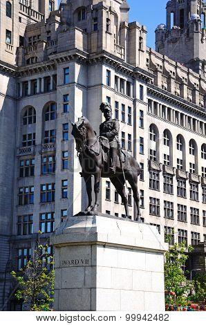 King Edward VII statue, Liverpool.