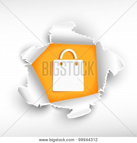 Shopping Bag And Breakthrough Paper Hole