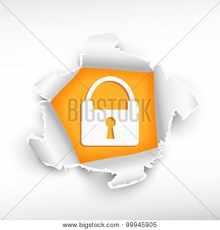 Lock And Breakthrough Paper Hole