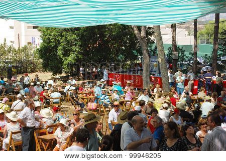 Spanish party in the park, Marbella.