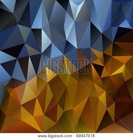 Vector Polygonal Background Pattern - Triangular Design In Gold Metal C