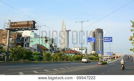 Architecture, Traffic, Ads In Saigon