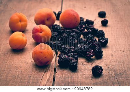 Apricots And Blackberries