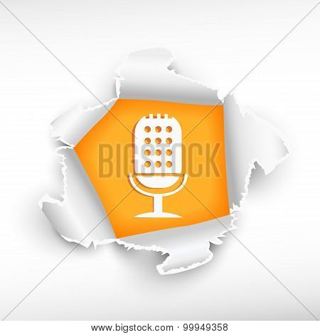 Microphone And Breakthrough Paper Hole