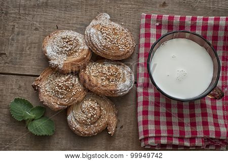 Festive Baking And Milk