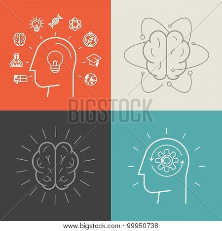 Vector Set Of Education And Knowledge Illustrations