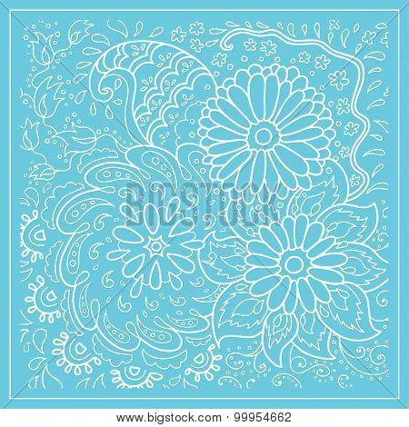 Decorative floral background with flowers