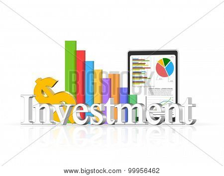 An illustration of 3d investment concept