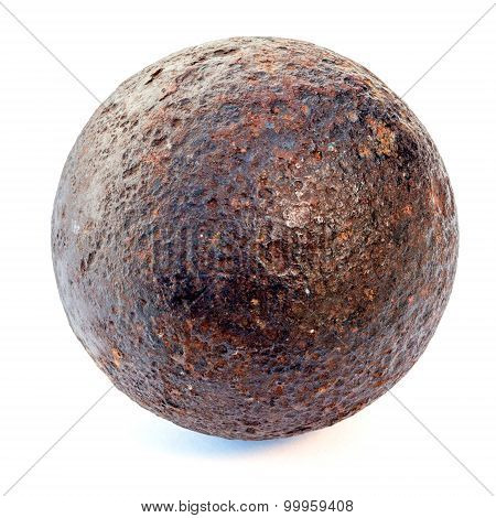 1812 year rust cannonball